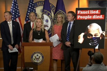 Rep. Greene holds a press conference on removing Dr. Fauci