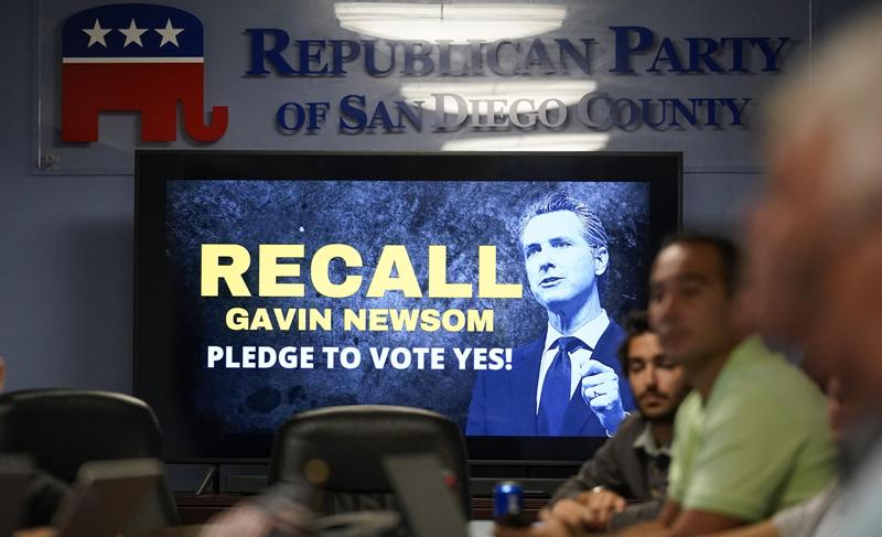 California Recall Election Woodland Hills Polling Location '70% of Voters Told They Already Voted'